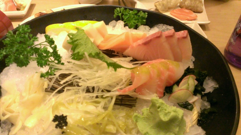 Sashimi plate ... or what's left of it