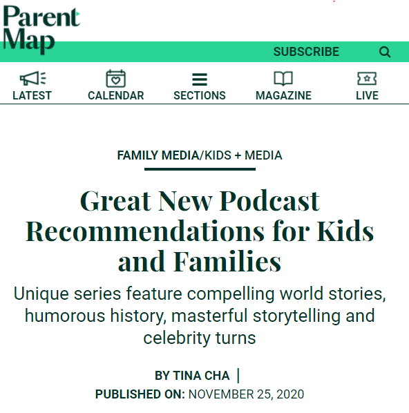 Great New Podcasts Recommendations for Kids and Families via ParentMap